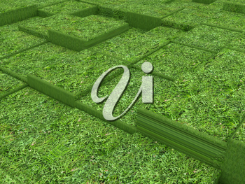 Terraces of grass