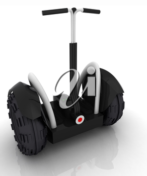 Mini electrical and ecological transport on a white background