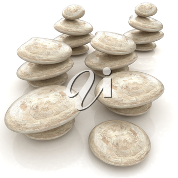 Glossy spa stones. 3d icon