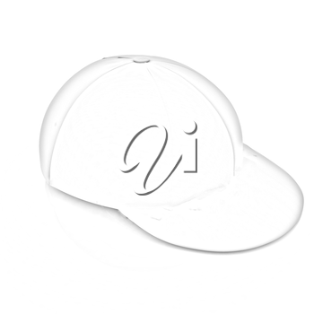 Red peaked cap on white background