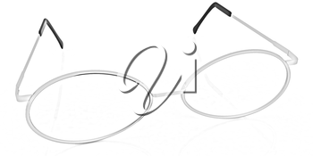 glasses on a white background