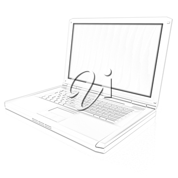 Laptop Computer PC on a white background
