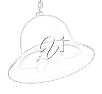 Gold bell on a white background