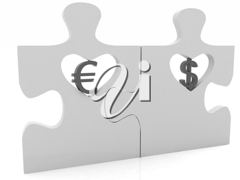 currency pair on a white background