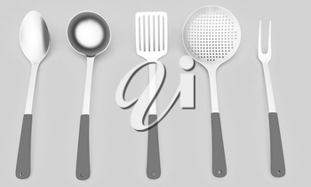 cutlery on a light gray background