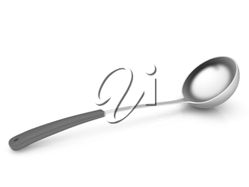 soup ladle on white background