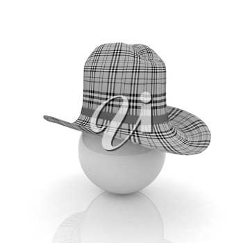 3d hats on white ball. Sapport icon on a white background