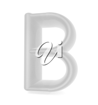 Glossy alphabet. The letter B