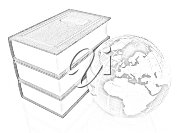 leather real books and Earth