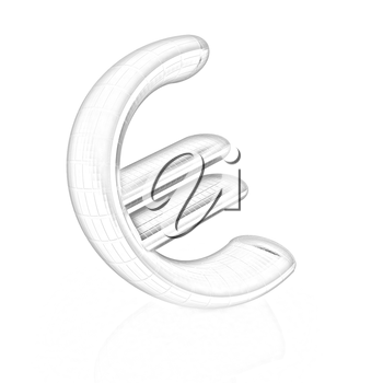 euro sign on a white background