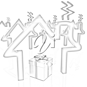 House icons and gift