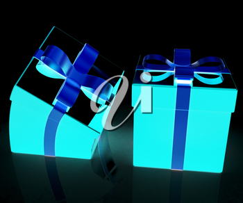Crumpled gifts on a white background