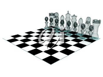 Chessboard with chess pieces