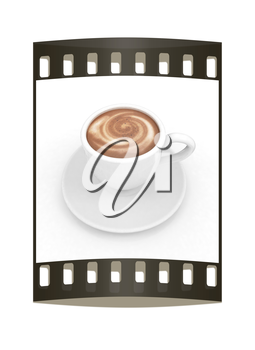 mug on a white background. The film strip