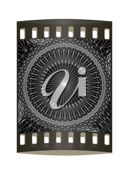 abstract pattern on a black background. The film strip