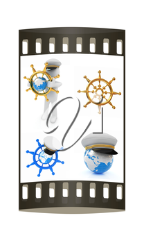 Boat trips set on a white background. The film strip