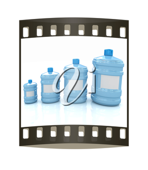 water bottles. The film strip