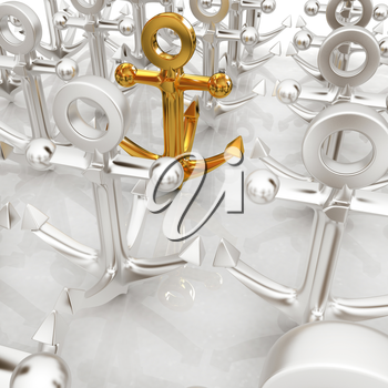 leadership concept with anchors