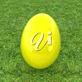 Big Easter Egg on a green grass