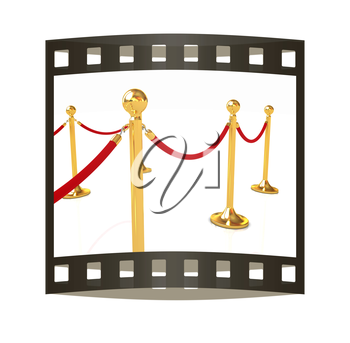 3d illustration of path to the success. The film strip