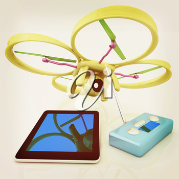 Drone, remote controller and tablet PC