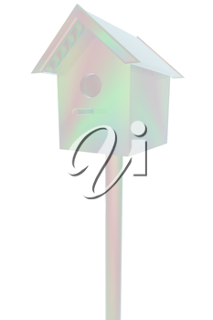 birdhouse - souvenir. 3d illustration