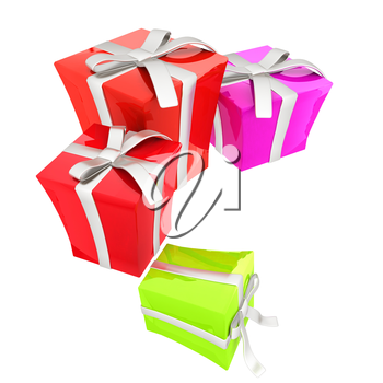 Gift boxes. 3d illustration