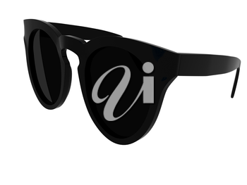 Cool black sunglasses. 3d illustration