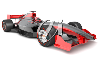 Generic black and red race car.  This is 3D model and this sport car doesn't exist in real life