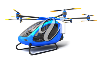 Electric Passenger Drone. This is a 3D model and doesn't exist in real life. 3D illustration