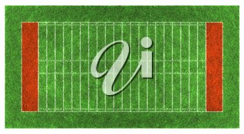 American football field. Aerial view.