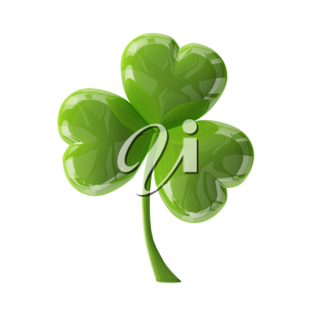 3d glass leaf clover for your St.Patrick's Day design