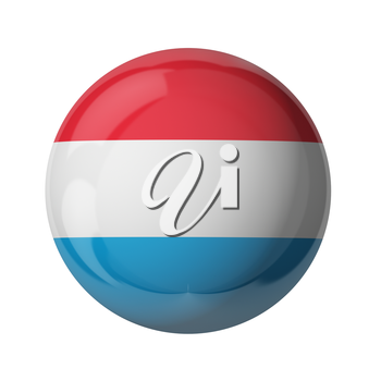 3D flag of Luxembourg isolated on white