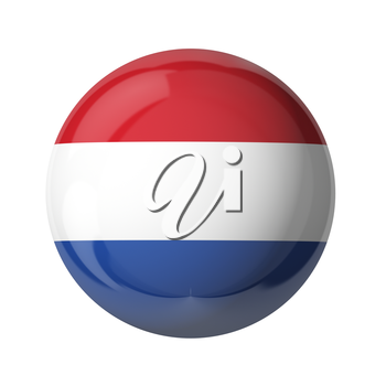 3D flag of Netherlands isolated on white