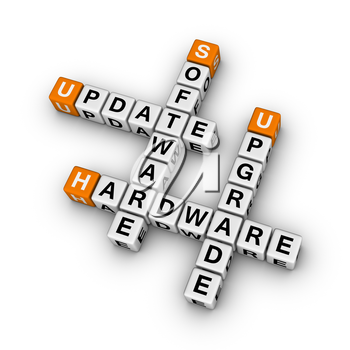 upgrade hardware and update software  (3D crossword orange series)