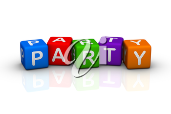 party (colorful buzzword cubes series)