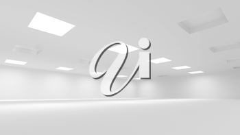Abstract white 3d interior with soft illumination