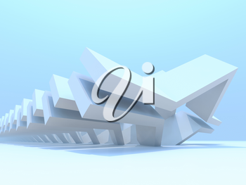 Abstract contemporary parametric architecture template. Computer graphics background, 3d rendering illustration