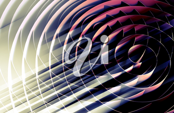 Dark 3d spirals, abstract digital illustration, background pattern