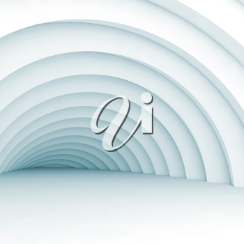 Square abstract geometric digital background with vortex tunnel, 3d illustration