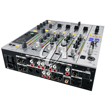 Mixer back cover with the slots and jacks