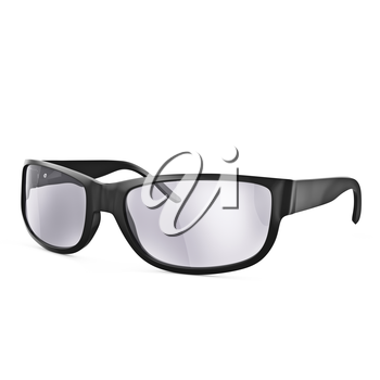 Automobile glasses with protective lenses on a white background