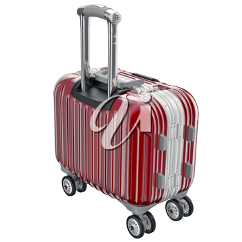 Red luggage small. 3D graphic object isolated on white background