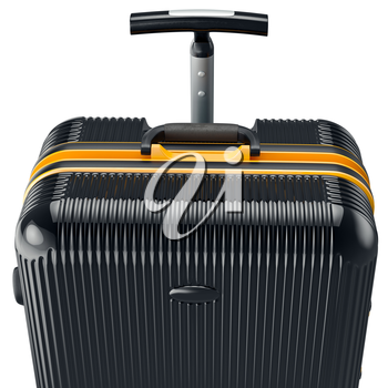 Luggage for travel, close view. 3D graphic object on white background