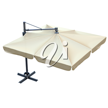 Sun umbrella, sunshade for relax. 3D graphic