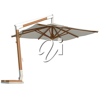 Modern beach umbrella for rest. 3D graphic