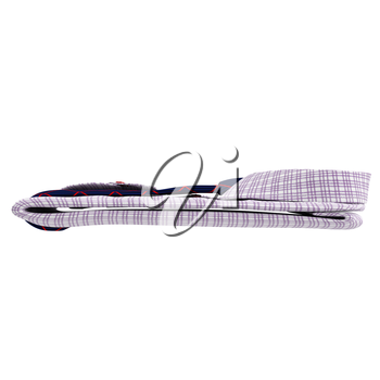 Classic men's shirt and tie, side view. 3D graphic