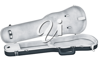 Open case viola musical instrument accessories. 3D graphic
