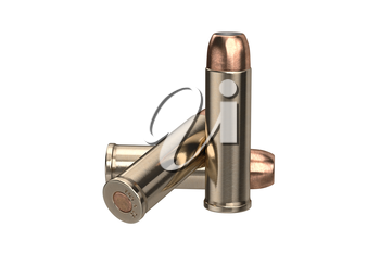 Bullet gun military explosive firearm. 3D graphic