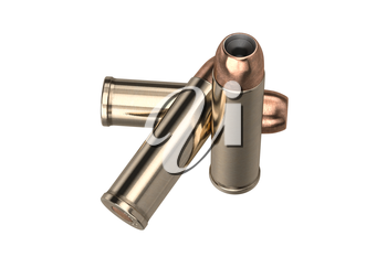Bullet gun caliber for hunting and protection. 3D graphic